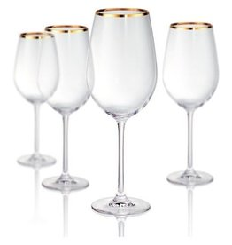 Artland Gold Band Red Wine Glass Set of 4