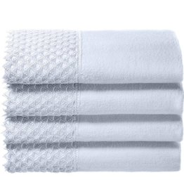 White Embelished Towel Set
