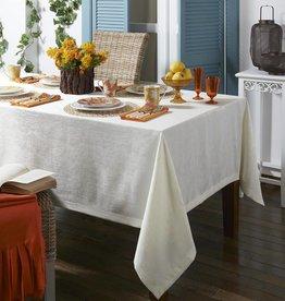 Lisbon White Tablecloth 66 x 144