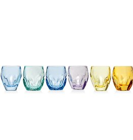 Godinger Silver Art Co Stockholm Colorful Set of 6 Shot Glasses