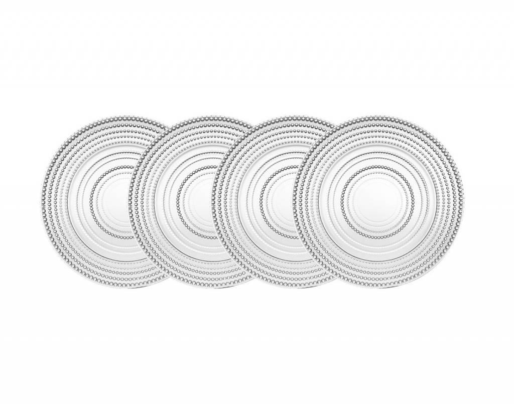 Godinger Silver Art Co Lumina Salad Plates set 4