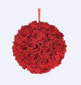 "Red Foam Flower Ball 8"""