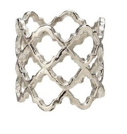 Lattice Silver Napkin Rings