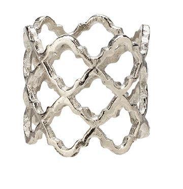Lattice Silver Napkin Rings