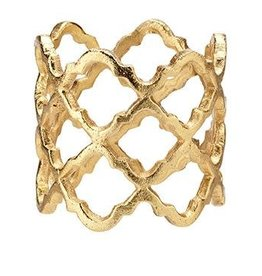 Lattice Gold Napkin Rings