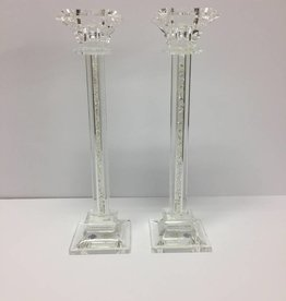 Godinger Silver Art Co Galaxy Crystal Filled Large Candlesticks