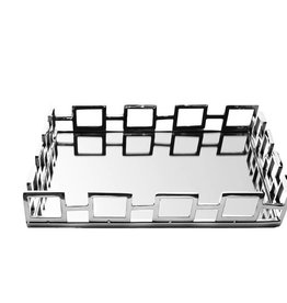 Square Mirror Tray w Loop Design