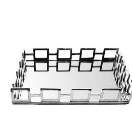 Square Mirror Tray w Loop Design