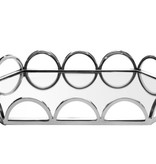 Oval Shaped Mirror Tray w Loop Design