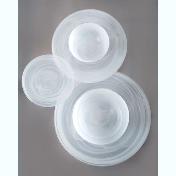 Alabaster white dinner plate s/6