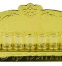 Gold Wall Menorah