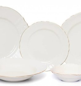 Bernadotte Ivory/Gold 20 pc set