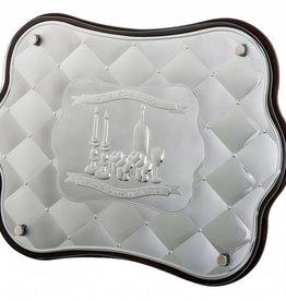 Wood and silver Diamond Challah Board