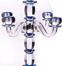 Candelabra Blue Crystal SS 5 Branches