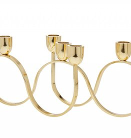 5 light Gold Candle Holder