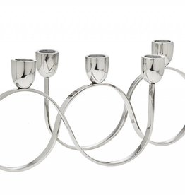 5 Light Silver Candle Holder