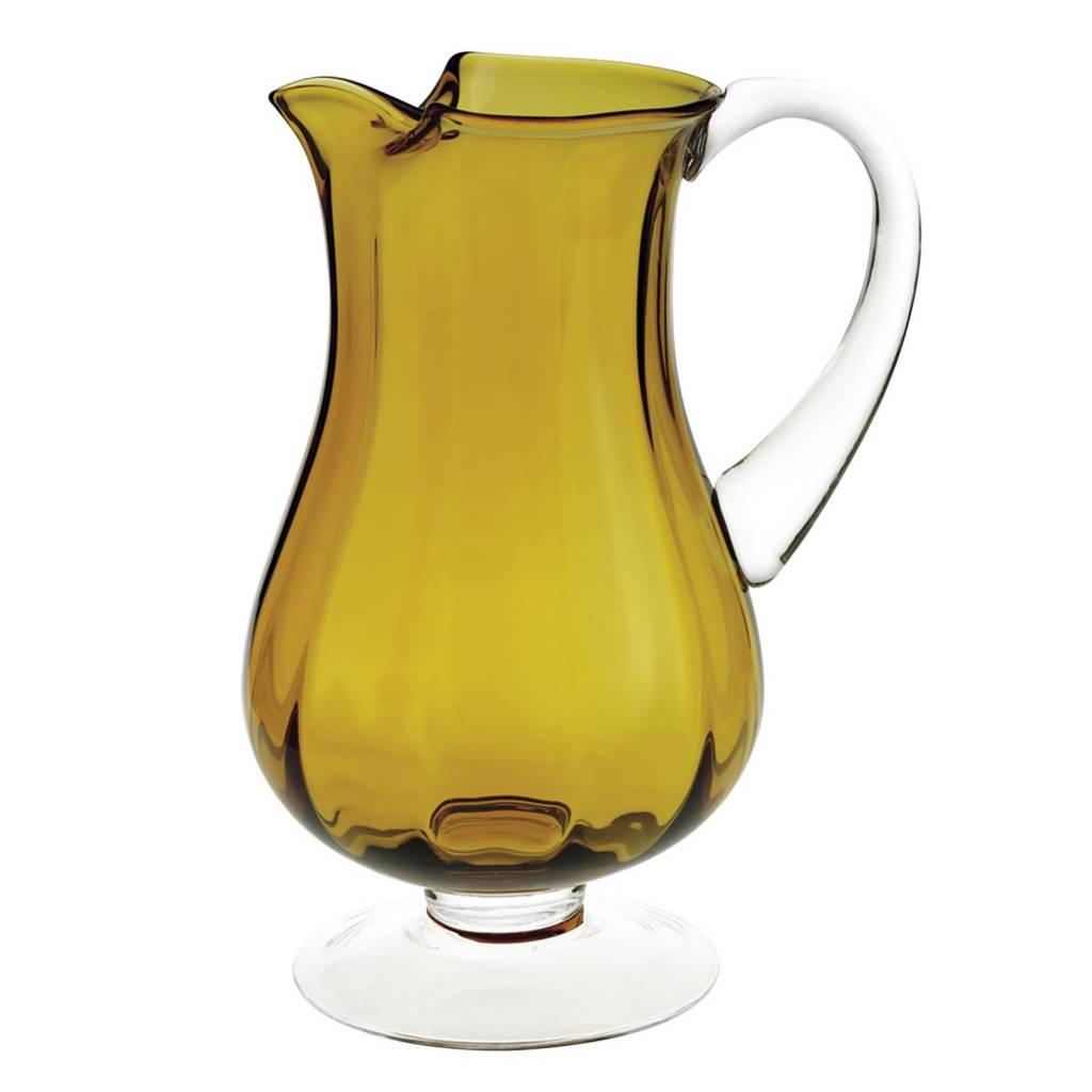 Amber Optic Pitcher