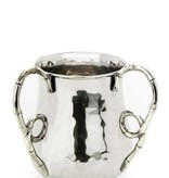 Washing Cup w Silver Bamboo handles