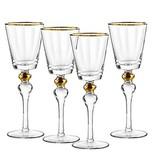 Dominion gold wine glasses s/4