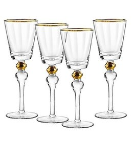 Dominion gold wine glasses s/4