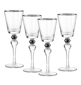 Dominion silver wine glasses s/4
