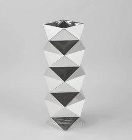 Medium Geo silver vase