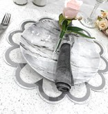 Waterdale Collection Silver Floral Lucite Chargers