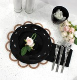 Waterdale Collection Rose gold Floral Lucite Chargers