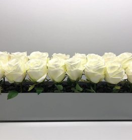 Myriad White Rose Centerpiece