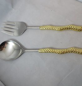 Pebbles gold salad servers