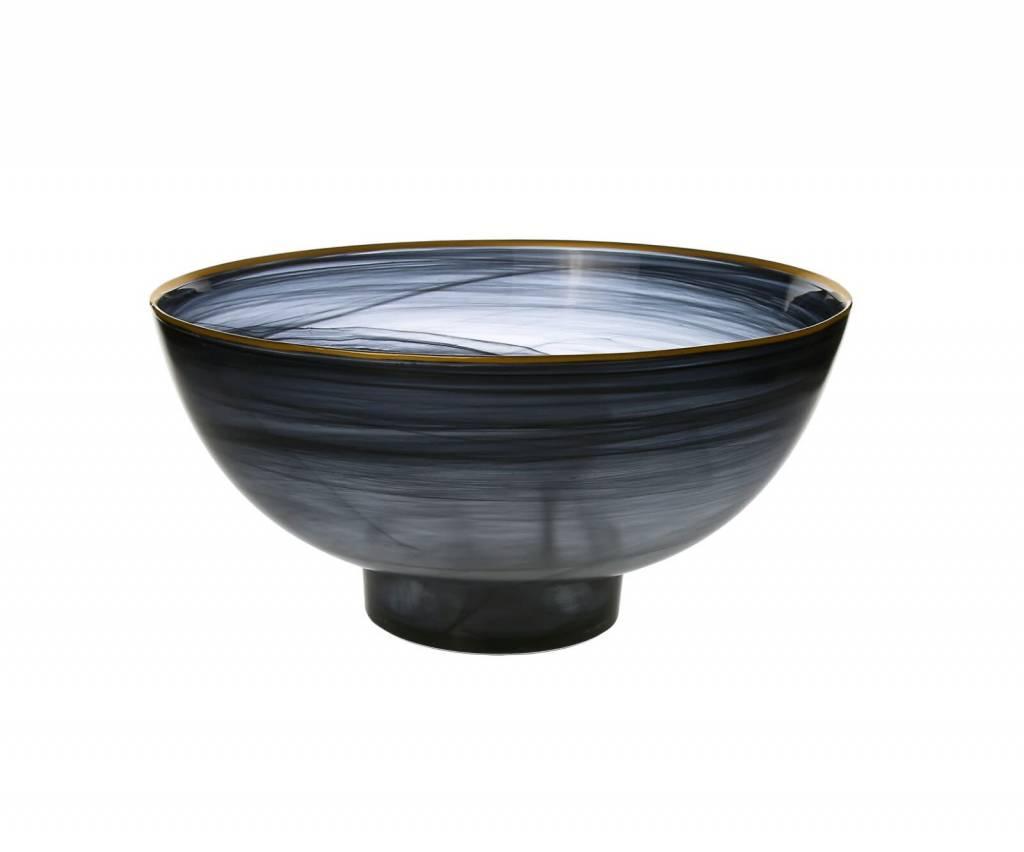 Black Alabaster Salad Bowl