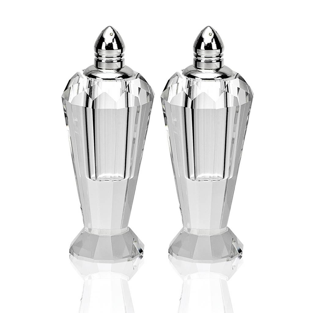 "4"" platinum salt and pepper shakers"