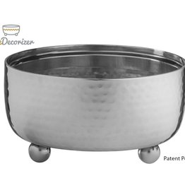 The decorizer SM Hammered Silver Bowl