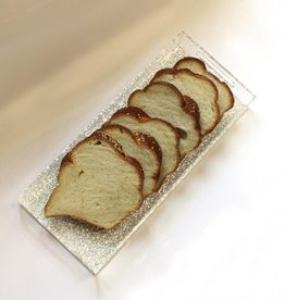Bread tray with silver glitter
