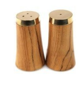 Gold & wood salt & pepper