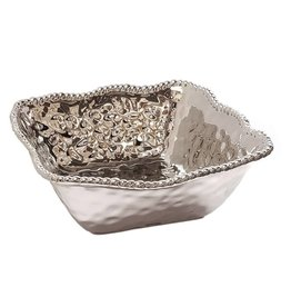 Ceramic Beaded large Square salad bowl
