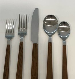 Madeira Wood 20 pc Flatware