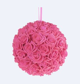 Pink Foam Flower Ball 8""