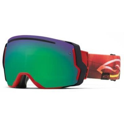 SMITH SMITH I/O Goggle Black Frame/Green Sol X Mirror/Red Sensor Mirror Lens