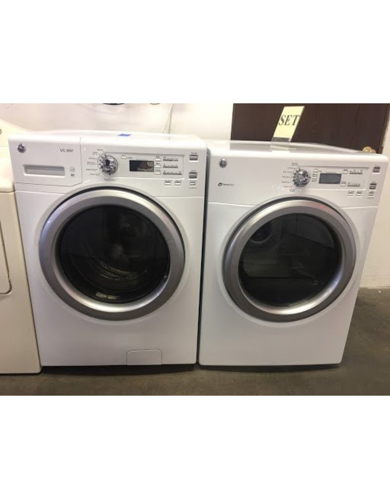 Ge Front Load Washer Dryer Set W Stack Kit Included
