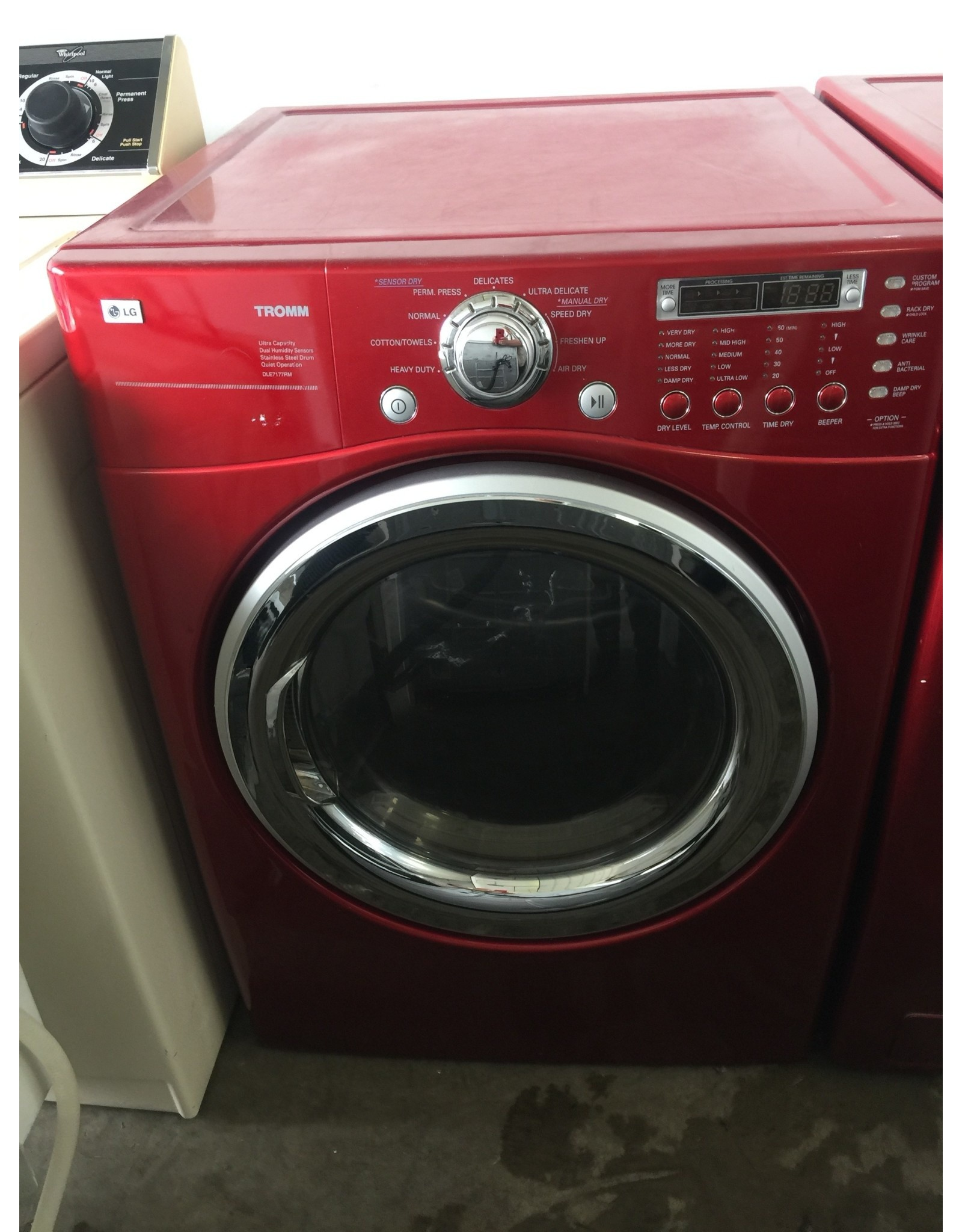 LG LG TROMM FRONT LOAD STEAM DRYER IN RED