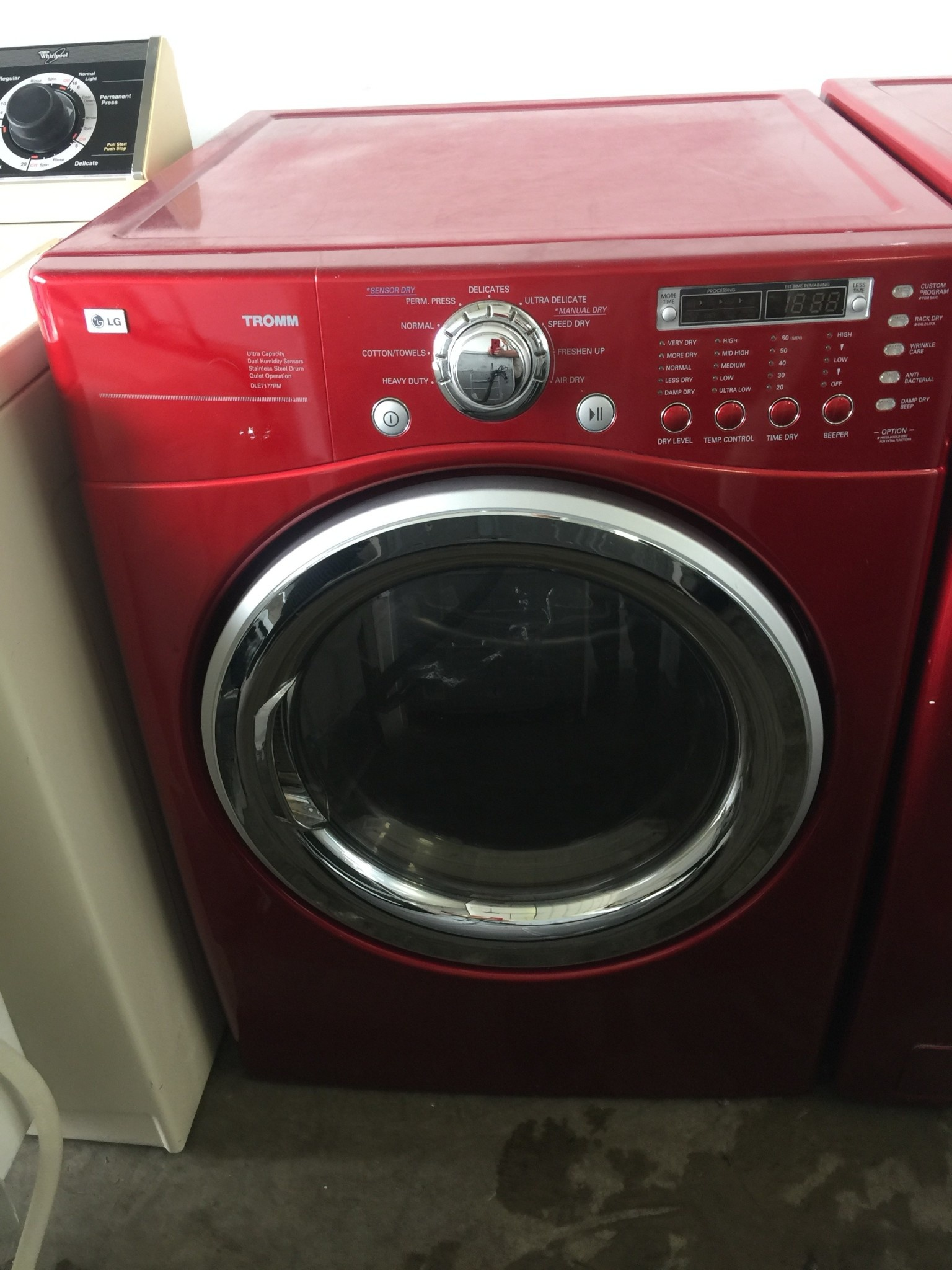 Lg Lg Tromm Front Load Steam Dryer In Red Discount City