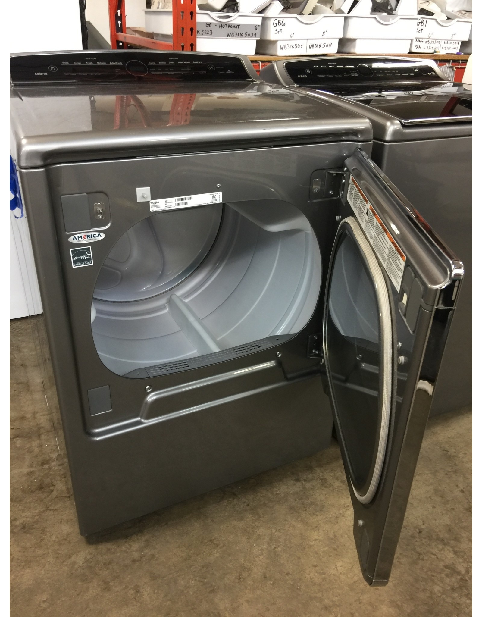 WHIRLPOOL WHIRLPOOL CABRIO TOP LOAD SILVER STEAM DRYER