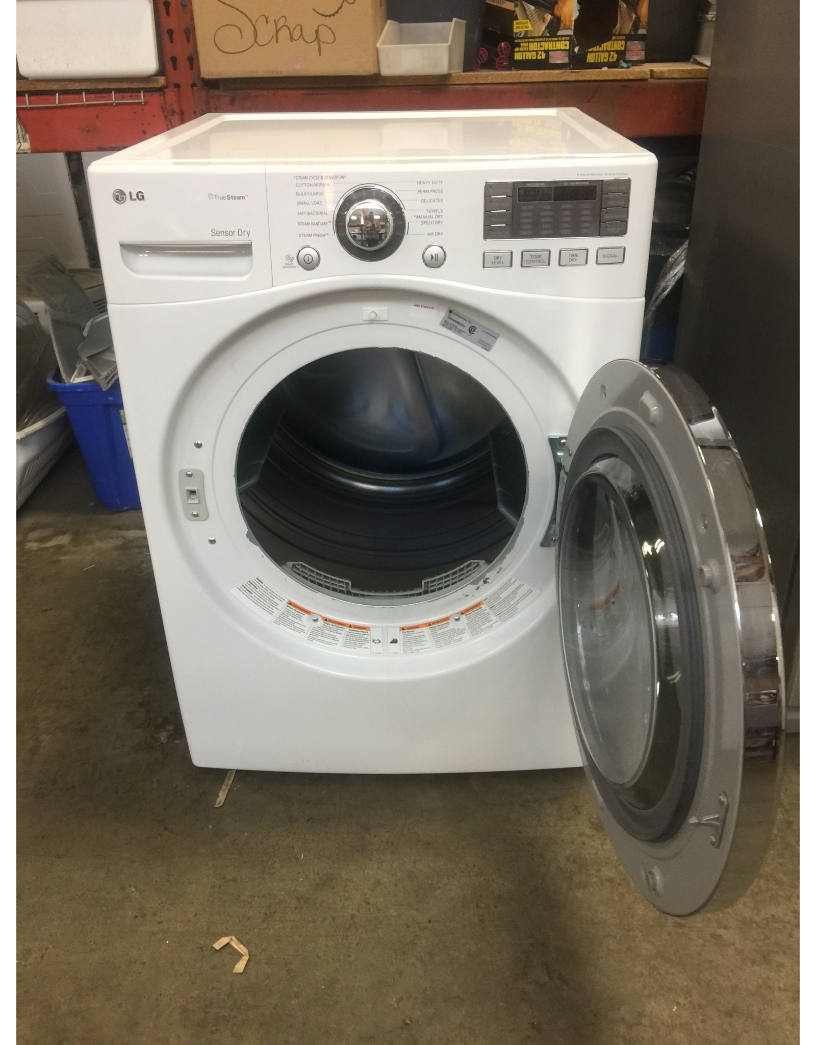 "LG LG ""TRUE STEAM"" FRONT LOAD STEAM DRYER"