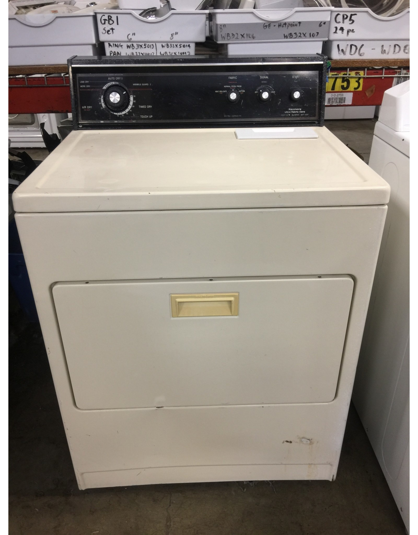 KENMORE KENMORE 80 STORES TOP LOAD DRYER IN ALMOND