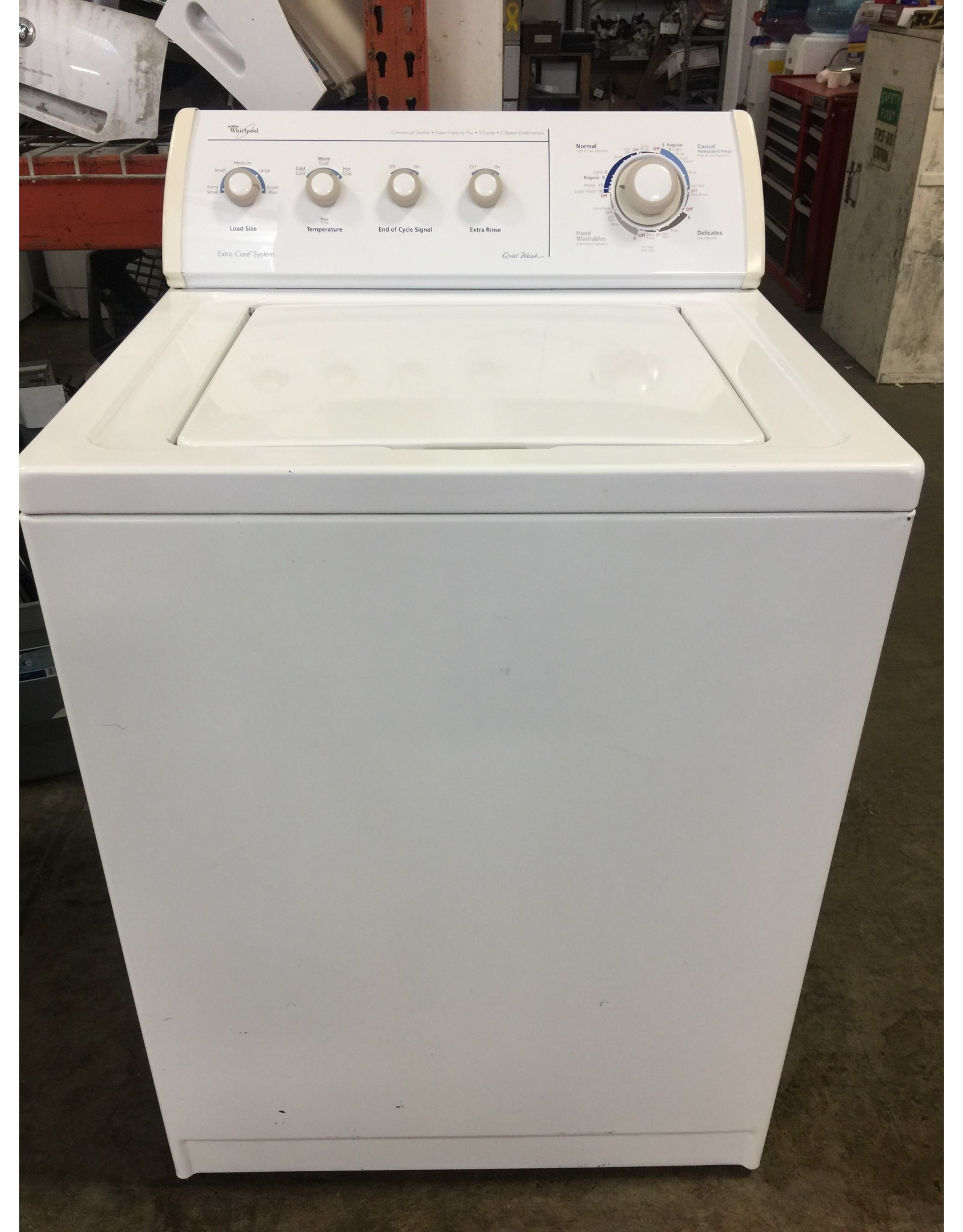 "WHIRLPOOL WHIRLPOOL ""QUIET WASH"" TOP LOAD WASHING MACHINE"