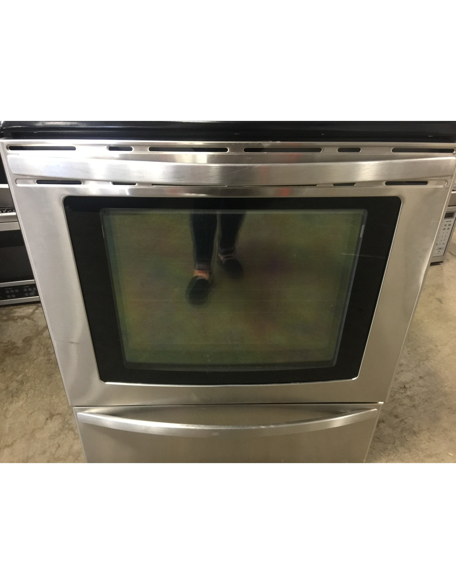 KENMORE KENMORE GLASS TOP CONVECTION RANGE IN STAINLESS & BLACK