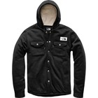 The North Face Men's Sherpa Patrol Snap-Up Hoodie Weathered Black Heather