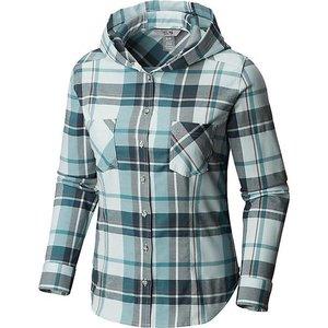 Mountain Hardwear Women's Acadia Stretch Hooded Long Sleeve Shirt Lakeshore Blue