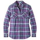 Mountain Khakis Women's Peaks Flannel Shirt Hydrangea